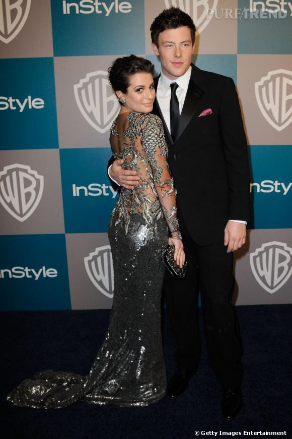 Lea Michele et Cory Monteith au 13th Annual Warner Bros. And InStyle Golden Globe Awards After Party en 2012.