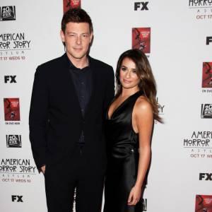 """Cory Monteith et Lea Michele à la première d'""""American Horror Story : Asylum"""" en 2012."""