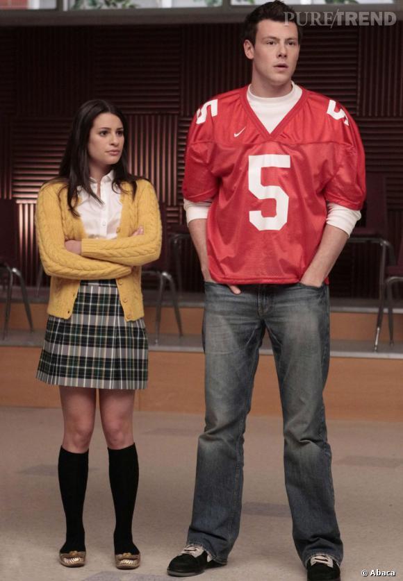 "Lea Michele et Cory Monteith dans ""Glee""."