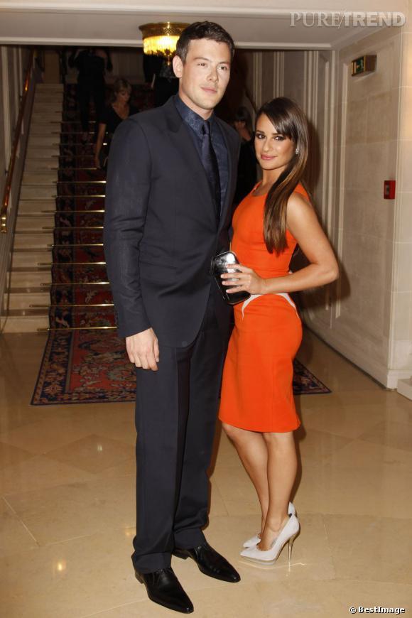 Cory Monteith et Lea Michele au défilé Versace Haute Couture Automne-Hiver 2012/2013.