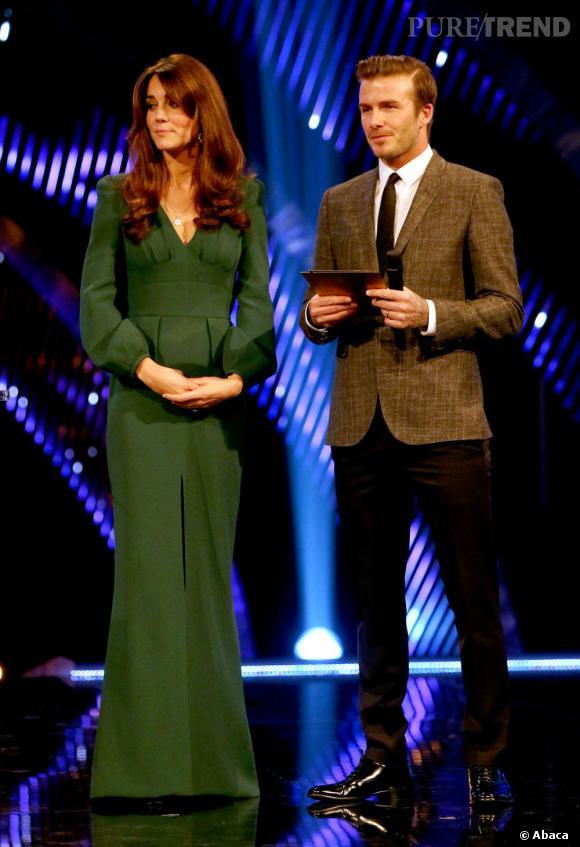 Kate Middleton et David Beckham en décembre 2012, lors de la cérémonie des BBC Sports Personality of the Year Awards 2012.