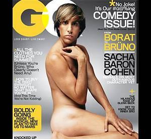 Sacha Baron Cohen, nu pour GQ.