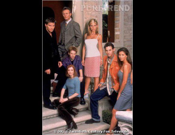 Buffy contre les vampires, toute la bande au début de la série en 1997.