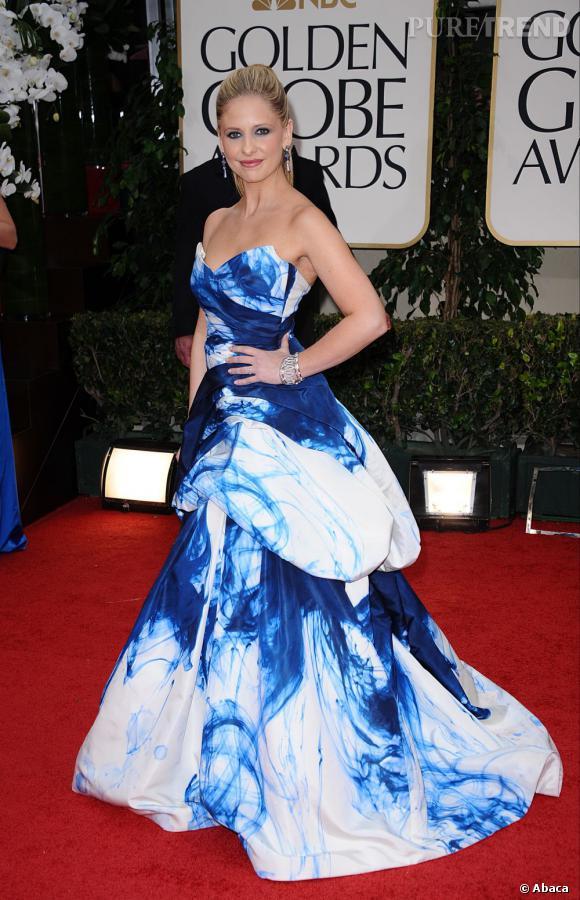 Sarah Michelle Gellar aux Golden Globes 2012 à Los Angeles. Une des rares apparitions de l'actrice ces dernières années.