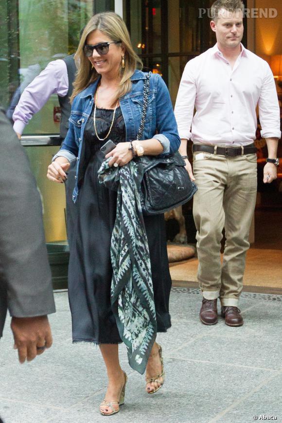 Jennifer Aniston, opération dissimulation de baby bump à New York ?