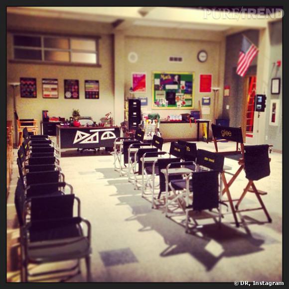 """Darren Criss a lui aussi retrouvé les studios de """"Glee"""" pour filmer la saison 5."""