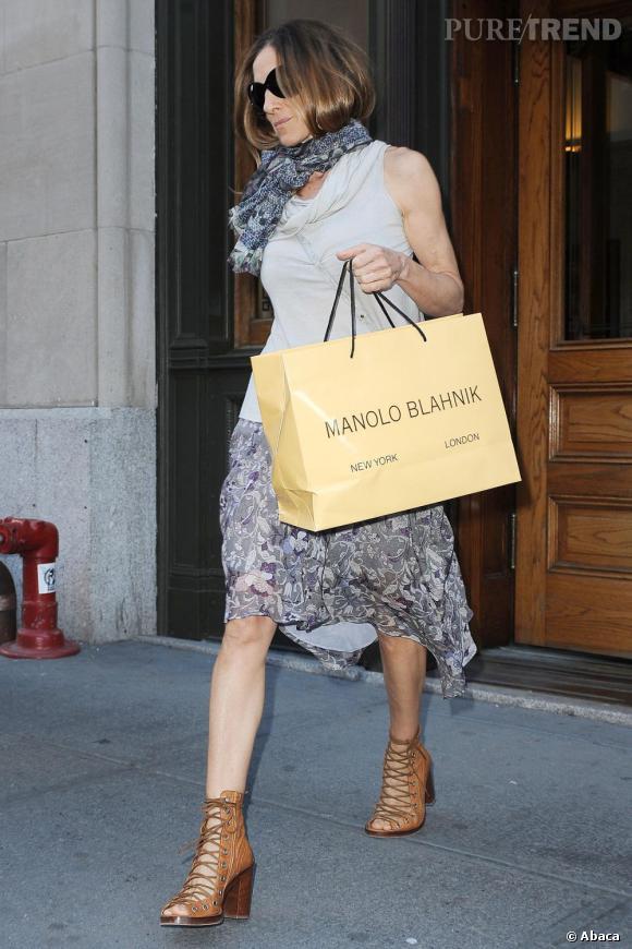 Sarah Jessica Parker va créer une ligne de chaussures avec Manolo Blahnik.