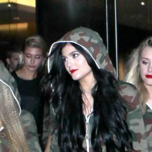 Kylie Jenner a fait son entrée camouflée.