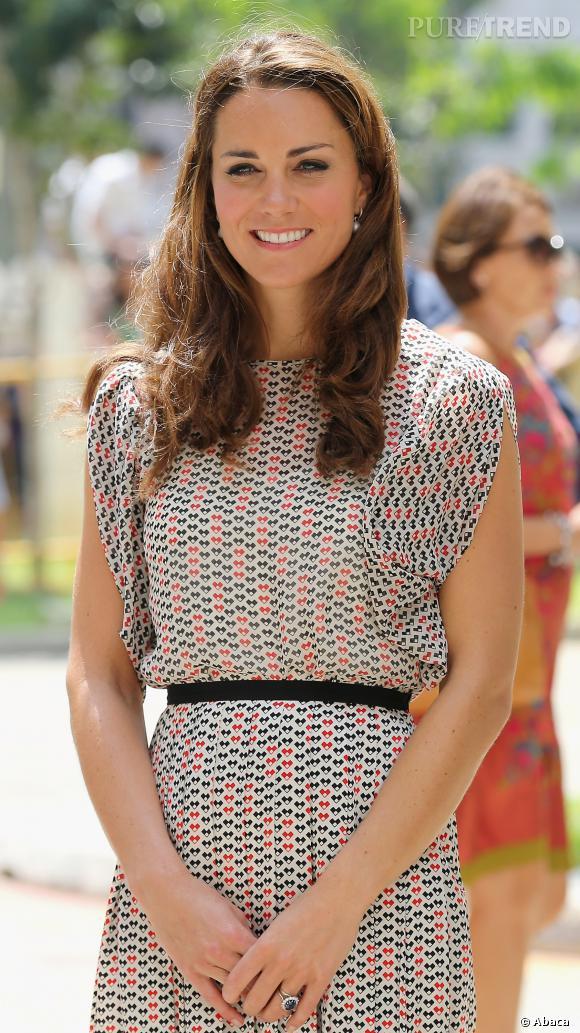 Kate Middleton a vite perdu les quelques kilos qu'elle a pris pendant ces 9 mois, et affiche désormais sa silhouette menue d'avant.