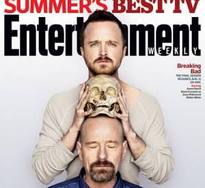 """Le fameux duo de """"Breaking Bad"""" pose pour Entertainment Weekly."""