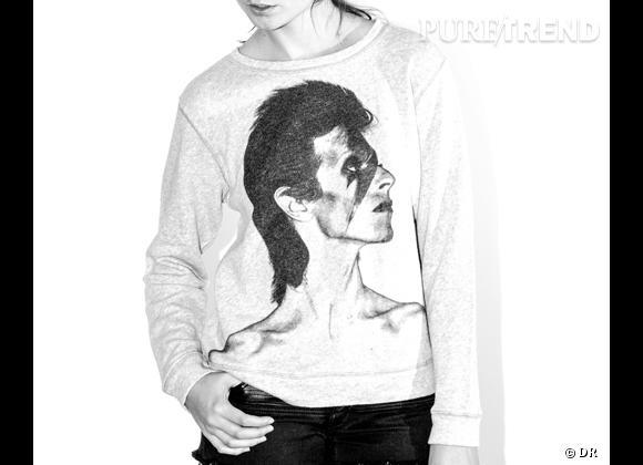 """Le must have de Marie Collection capsule """"Icons Forever"""", hommage à David Bowie, sur Net-a-porter.com du 1er au 15 octobre 2013 en avant-première, puis disponible sur l'e-shop Maje"""