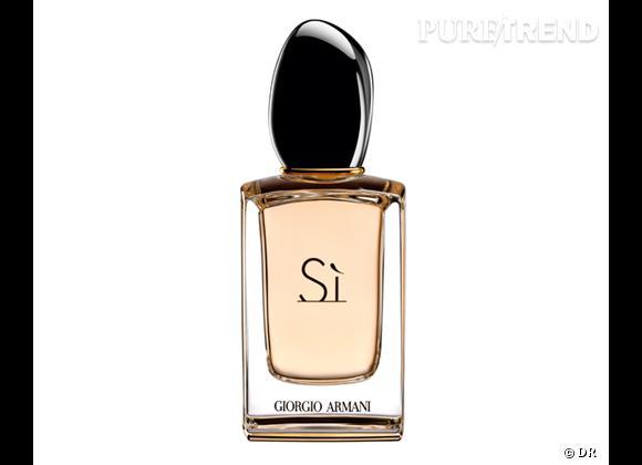 Les nouveaux parfums de la rentrée 2013    Eau de parfum Sì de Giorgio Armani, 53,90 € les 30 ml   Disponible à partir du 2 septembre 2013