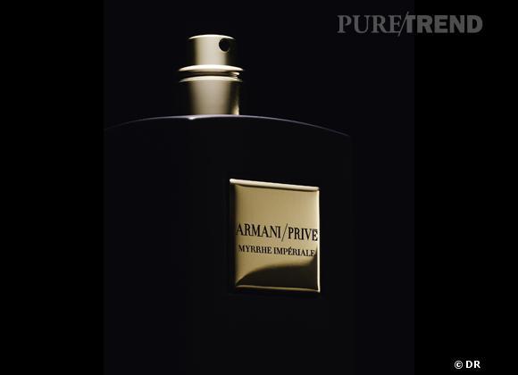 Les nouveaux parfums de la rentrée 2013    Myrrhe impériale d'Armani Privé, collection Mille et une nuits, 215 € les 100 ml   Disponible à partir du 16 septembre 2013