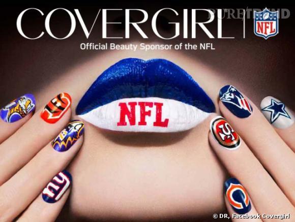 Covergirl, sponsor officiel de la Nation Football League, a lancé une gamme de vernis aux couleurs des 32 équipes de football américain de la NFL.