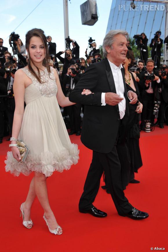Alain Delon, au côté de sa fille Anouchka n'aura pas été épargnée par Catherine Deneuve.