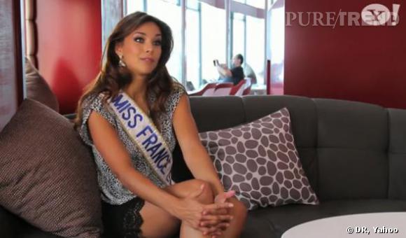 Marine Lorphelin en interview pour Yahoo avant le concours Miss Monde.