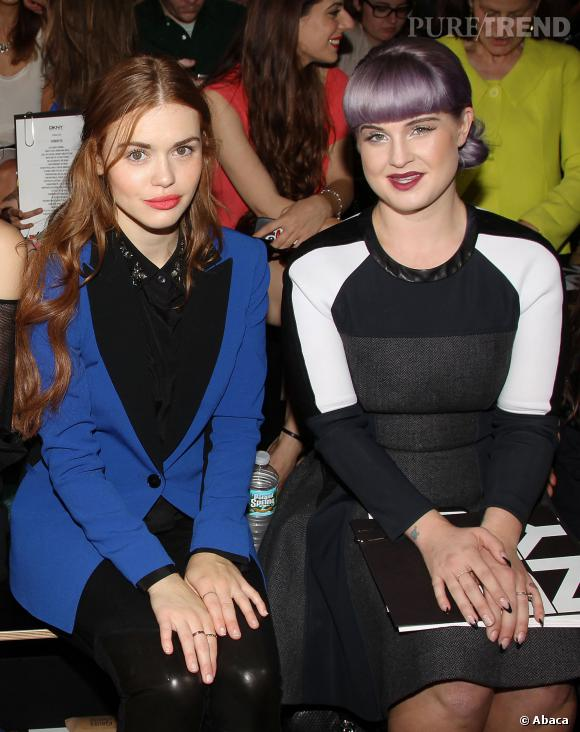 Holland Roden et Kelly Osbourne au défilé Printemps-Eté 2014 DKNY.