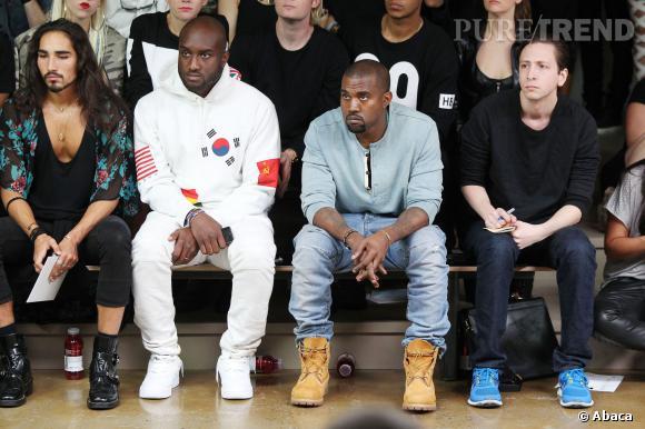 Kanye West et Virgil Abloh au défilé Printemps-Eté 2014 Hood by Air.