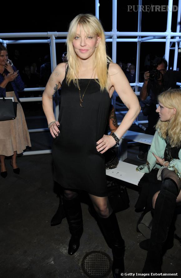 Courtney Love au défilé Printemps-Eté 2014 Alexander Wang.