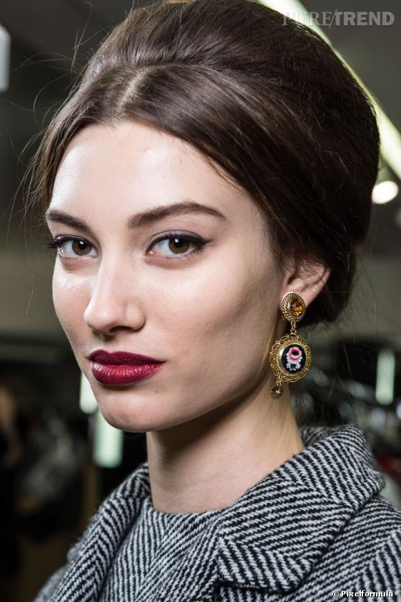 Le chignon façon Audrey Hepburn   Défilé Dolce & Gabbana automne-hiver 2013/2014
