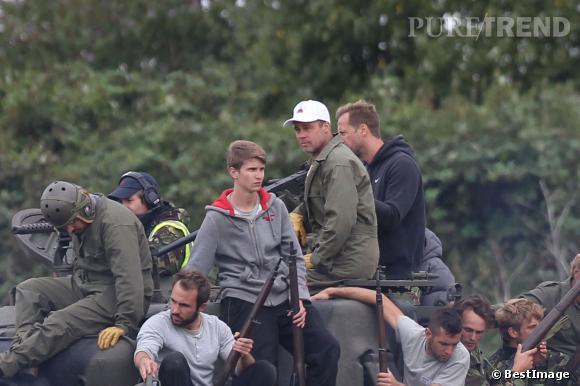 Dans son prochain film, Brad Pitt interprète un militaire, d'où la coupe ultra-courte.