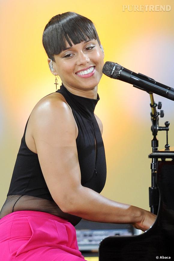 Alicia Keys a récemment adopté la coupe très courte.