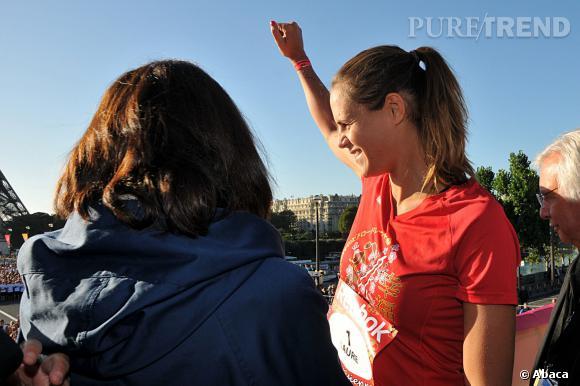"""Laure Manaudou a participé à la course """"La Parisienne"""", dimanche 15 septembre."""
