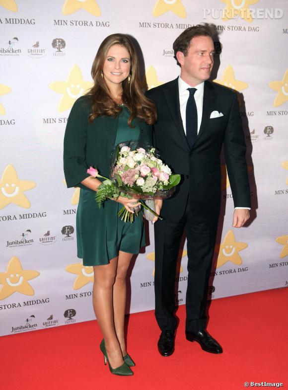 "La Princesse Madeleine au gala ""My Big Day"" en Suède le 16 septembre 2013."