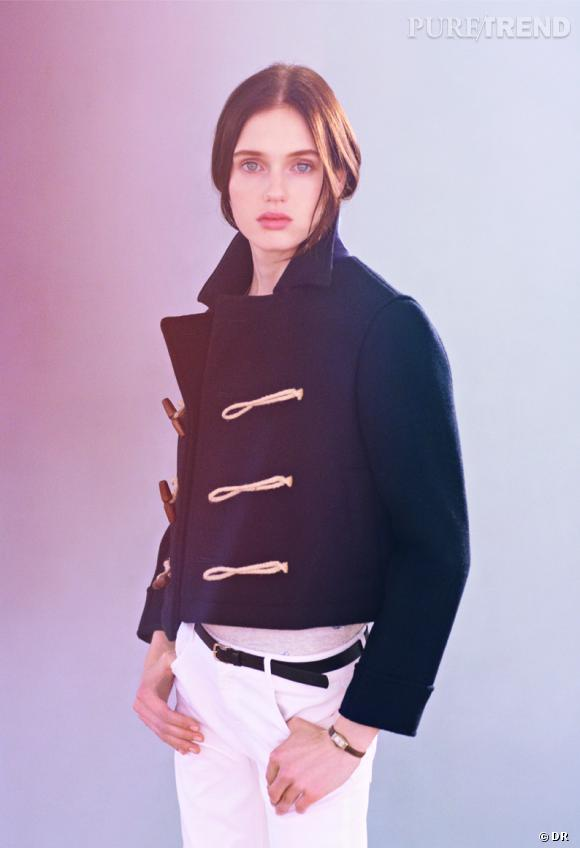 Shopping tendance : le look marin      Lookbook Massimo Dutti Automne-Hiver 2013/2014, caban, 250 €