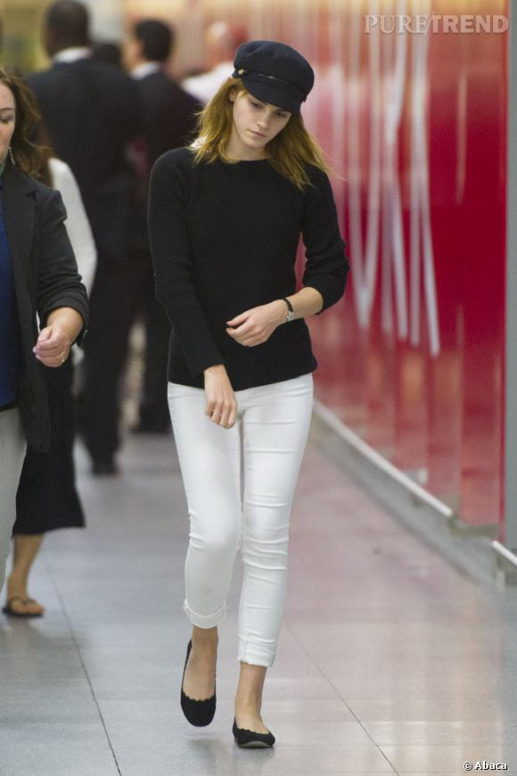 Shopping tendance : le look marin   à adopter comme Emma Watson