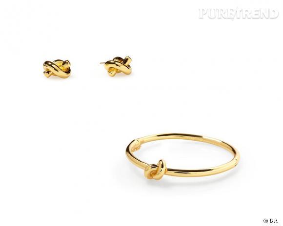 Shopping tendance : le look marin      Boucles d'oreilles et bracelet Sailor's Knot, Kate Spade New York, environ 38 et 62 € sur  Piperlime.gap.com
