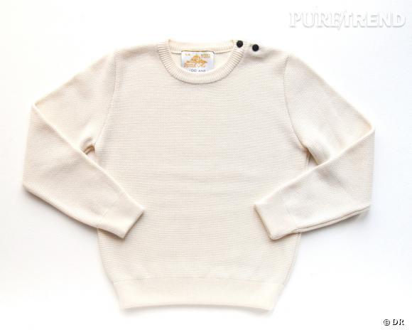 Shopping tendance : le look marin      Pull Louis, Le Mont Saint Michel, collection capsule anniversaire 100 ans, 87 €