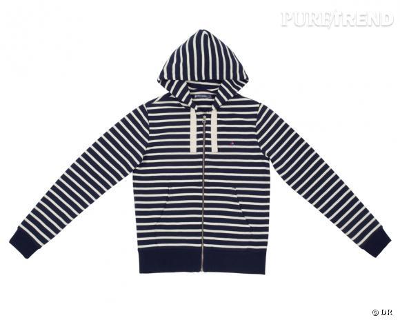 Shopping tendance : le look marin      Veste sweat à capuche Petit Bateau, 110 €