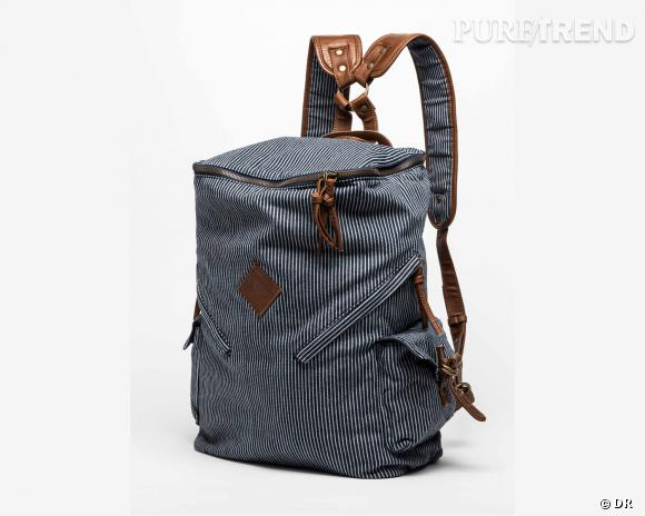 Shopping tendance : le look marin      Sac à dos Quiksilver, 75 €