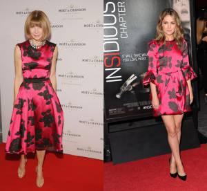 Anna Wintour vs Rose Byrne : la robe fuchsia a fleurs Lanvin
