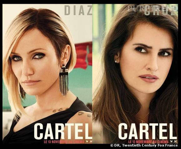 "Cameron Diaz et Penelope Cruz, retouchées à outrance sur l'affiche de ""Cartel"" (""The Counselor"" dans la version originale)."