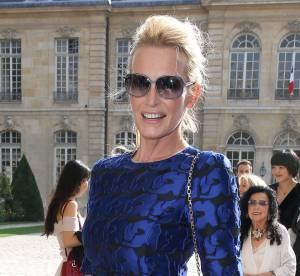 Estelle Lefebure toute en jambes chez Dior
