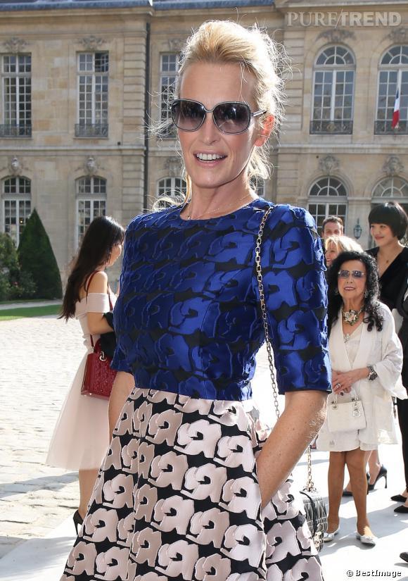 Estelle Lefébure au défilé Christian Dior Printemps-Été 2014.