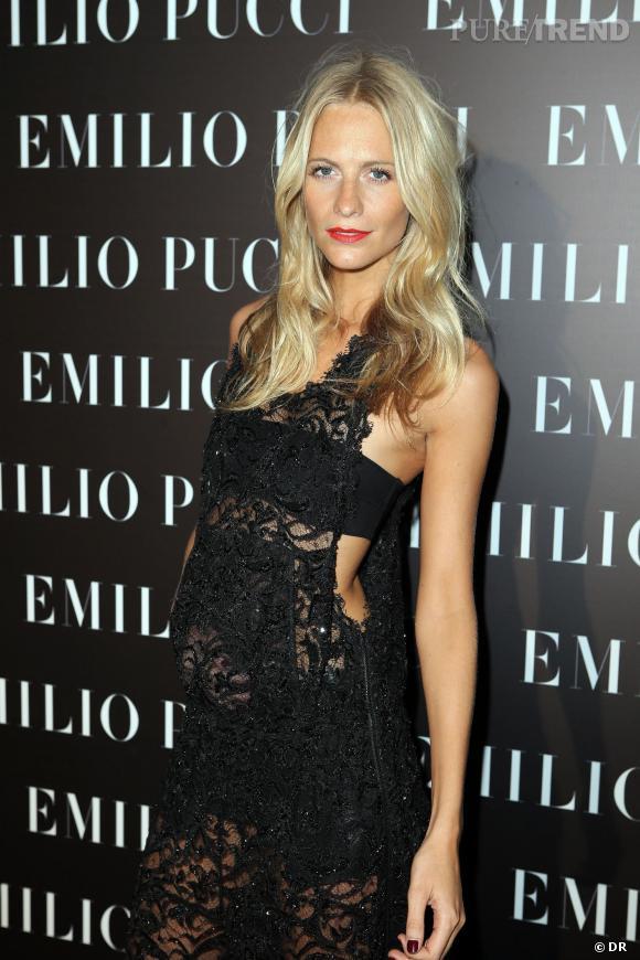 Poppy Delevingne à l'inauguration de la boutique Emilio Pucci.
