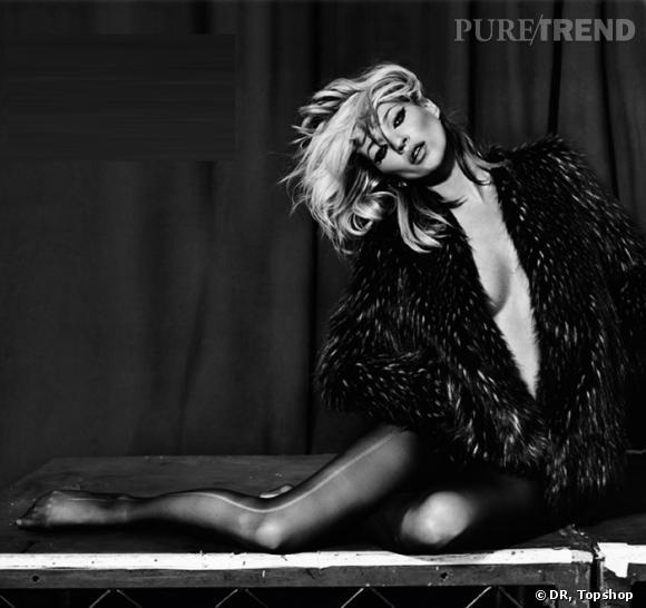 Dernière campagne Kate Moss pour Topshop Automne 2010.
