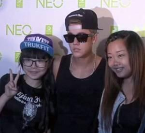 Justin Bieber a pu rencontrer ses fans lors d'un événement NEO organisé à Shanghaï.