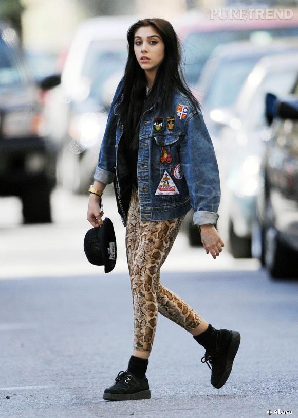Lourdes Leon, accro au look punk et grunge.