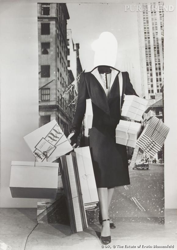 Exposition Erwin Blumenfeld. Mode-Montage. 1950.