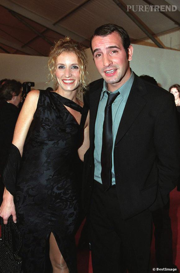 """Jean Dujardin en 2001, avec """"Chouchou"""" Alexandra Lamy."""