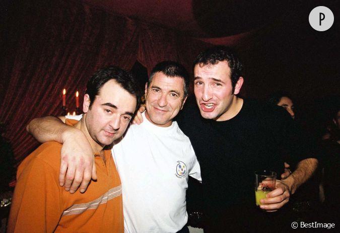 Jean dujardin en compagnie de bruno solo et de jean marie for Dujardin bruno