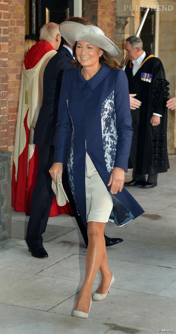 Carole Middleton, chapeau oversize pour la grand-mère de baby George.