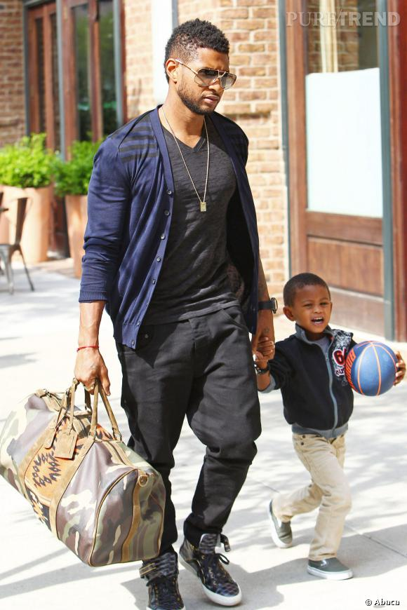 """Usher a deux enfants : Usher """"Cinco""""et Naviyd Ely. La mère de ses enfants est morte d'un arrêt cardiaque suite à une anesthésie générale."""