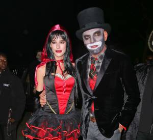 Christian Audigier et sa fiancée en Petit Chaperon Rouge.