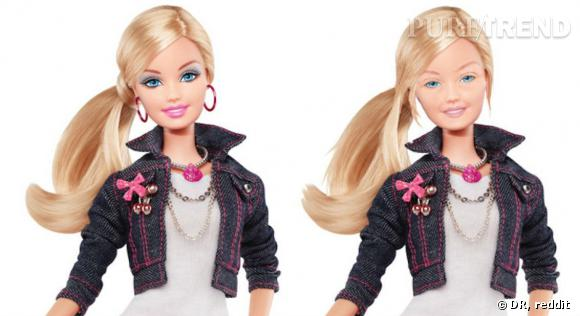 Barbie sans maquillage fait un peu grise mine.