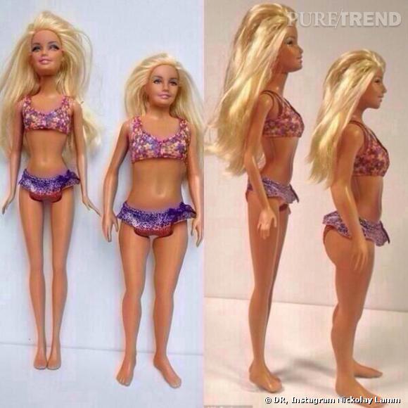Nickolay Lamm avait déjà imaginé une Barbie aux mensurations plus réalistes que celles d'une Barbie classique.